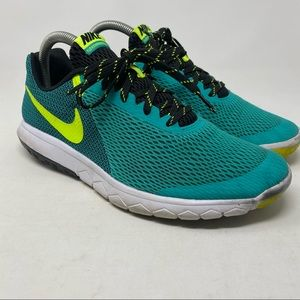 Nike Flex Experience Teal Lace Up Running Shoes